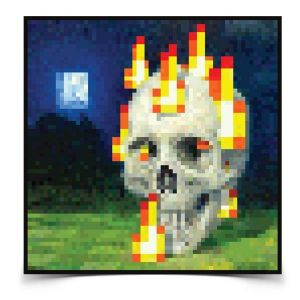 Постер Burning Skull Poster Minecraft 60х60 см