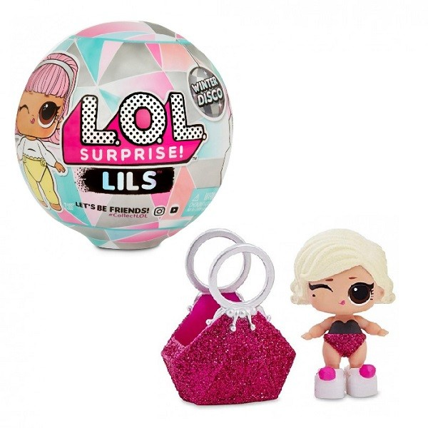 Оригинал Кукла-сюрприз Сестричка или Питомец ЛОЛ Зимнее диско (LOL Surprise Lils Winter Disco MGA Entertainment 559672)