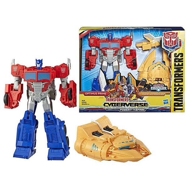 Трансформер Оптимус Прайм 28 см. Кибервселенная Спарк Армор E4218 (Transformers Cyberverse Spark Armor Ark Power Optimus Prime)