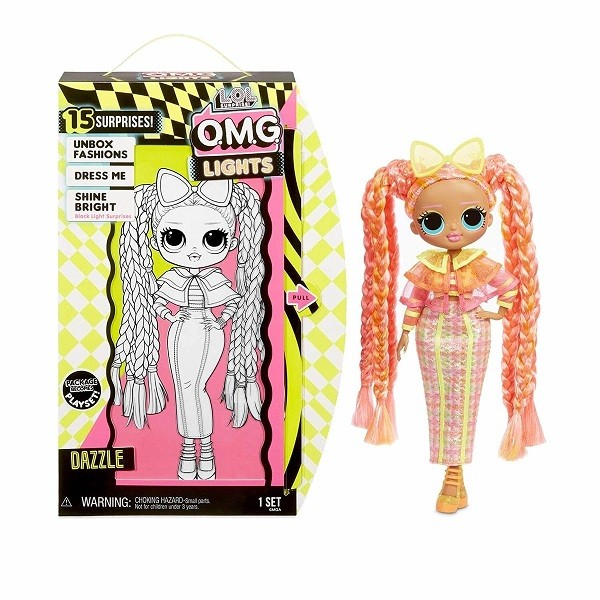 Оригинал Кукла ЛОЛ OMG Lights Dazzle серия Неон (LOL Surprise Fashion Doll MGA Entertainment 565185)