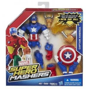 Фигурка Капитана Америки с оружием A6833/B0694 (Captain America Super Hero Mashers)