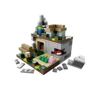 Конструктор Lego Micro World The Village Minecraft, 466 деталей